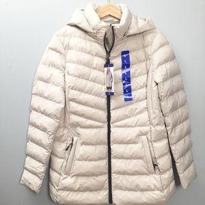 Puffer Coat 32 Degrees Light Gray Hood NWT L 12-14